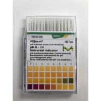 PAPEL IND. pH 0 - 14, CX C/100 LÂMINAS MERCK