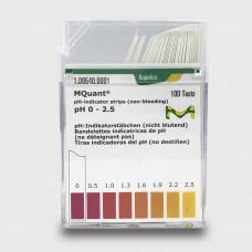PAPEL IND. pH 0 - 2,5 CX C/100 LÂMINAS MERCK