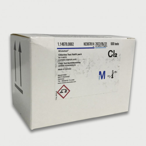 MCOLORTEST REFIL TESTE P/ CLORO LIVRE (0,1-2 mg/L) 600 TESTES P/ DISCO COMP. MERCK