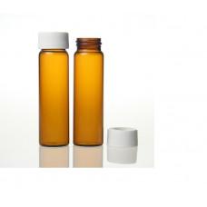 VIAL 40ml EPA AMBAR C/ TAMPA E SEPTO PTFE/SILICONE - 72 UND