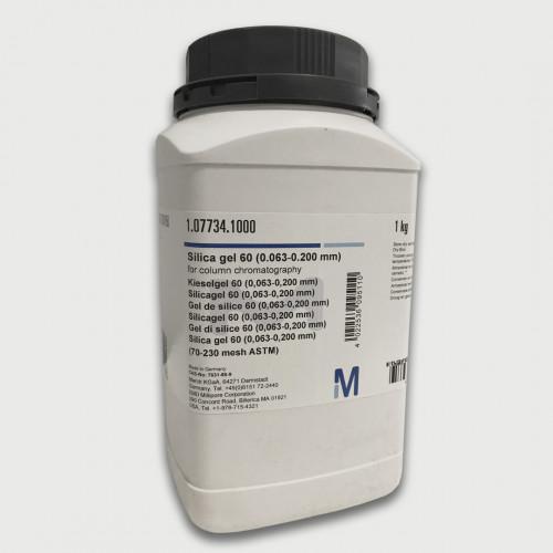 SILICAGEL 60 (0,063-0,200mm) P/ CROMATOGRAFIA COLUNA MERCK - (FRASCO 1KG)