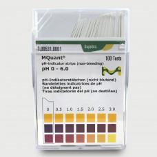 PAPEL IND. pH 0-6 CX C/ 100 LÂMINAS MERCK
