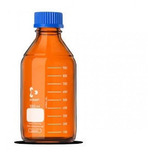 FRASCO GRADUADO P/ REAGENTE  500 ml EM VIDRO AMBAR  GL 45 DURAN