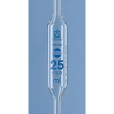 PIPETA VOLUMÉTRICA   2,5ml  BRAND CLASSE A GRAV ESMALTE AZUL COM CERTIFICADO DE LOTE (EM CONFORMIDADE COM ISO 9000) UND
