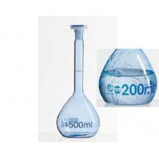 BALÃO VOL.   100ml EM VIDRO  REVESTIDO COM PUR PLASTIC DIN EN ISO 1042 / CERTIFICADO DE CONFORMIDADE/ NS 14/23 BRAND EMB C/ 1 UND