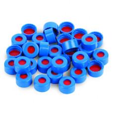 TAMPA PARA VIAL 9mm AZUL EM PP COM SEPTO PTFE/SIL VERMELHO RESTEK (EMB. 100 UND)