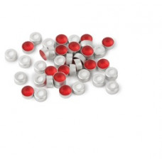TAMPA P/ VIAL 11mm LACRE SEPTO PTFE/SILICONE RESTEK (EMB. 100 UND)